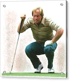 Precision Jack Nicklaus  Acrylic Print by Iconic Images Art Gallery David Pucciarelli