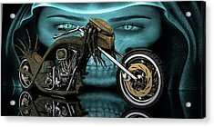 Acrylic Print featuring the digital art Predator Chopper by Louis Ferreira