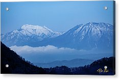 Acrylic Print featuring the photograph Predawn Peaks by Rikk Flohr
