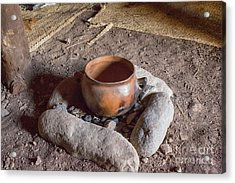 Acrylic Print featuring the photograph Prehistoric Cooking  by Patricia Hofmeester