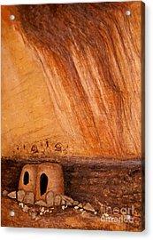 Prehistoric Rock Art Acrylic Print by Janice Rae Pariza