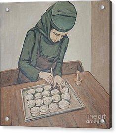 Preparing Communion Bread Acrylic Print by Olimpia - Hinamatsuri Barbu