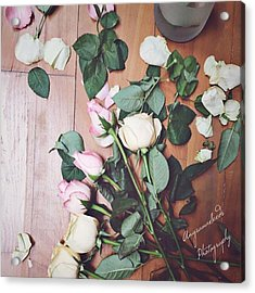 Preparing For A Shoot. #roses Acrylic Print
