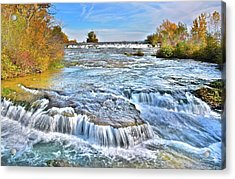 Acrylic Print featuring the photograph Preparing For The Big Fall by Frozen in Time Fine Art Photography
