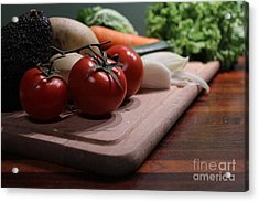 Preparing Vegetables For Cooking Food Acrylic Print