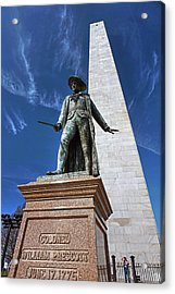 Prescott Statue On Bunker Hill Acrylic Print