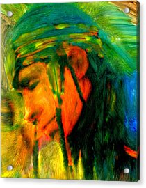 Acrylic Print featuring the painting Presence by FeatherStone Studio Julie A Miller