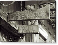 Preservation Hall, French Quarter, New Orleans, Louisiana Acrylic Print