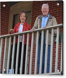 President And Mrs Carter On Plains Inn Balcony Acrylic Print