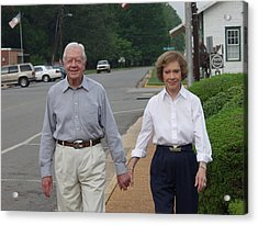 President And Mrs. Jimmy Carter Acrylic Print