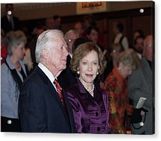 Acrylic Print featuring the photograph President And Mrs. Jimmy Carter Nobel Celebration by Jerry Battle