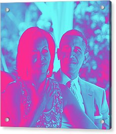 President Barack Obama And The First Lady Michelle Obama Acrylic Print by Asar Studios