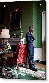 President Barack Obama Waits Acrylic Print