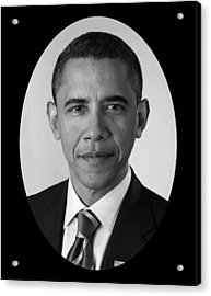 President Barack Obama Acrylic Print by War Is Hell Store