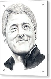 President Bill Clinton Acrylic Print by Murphy Elliott