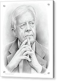 President Carter Acrylic Print