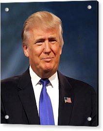 President Donald John Trump Portrait Acrylic Print by Movie Poster Prints