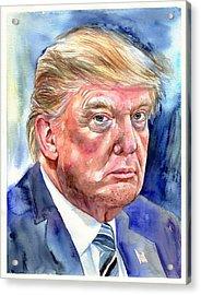 President Donald Trump Acrylic Print
