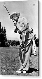President Eisenhower Golfing Acrylic Print by Underwood Archives