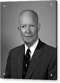 President Eisenhower Acrylic Print by War Is Hell Store