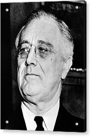 President Franklin Delano Roosevelt Acrylic Print by War Is Hell Store