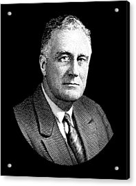 President Franklin Roosevelt Graphic Acrylic Print by War Is Hell Store