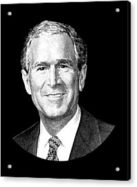 President George W. Bush Graphic Acrylic Print by War Is Hell Store