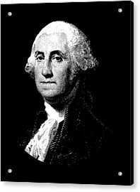 President George Washington Graphic  Acrylic Print by War Is Hell Store