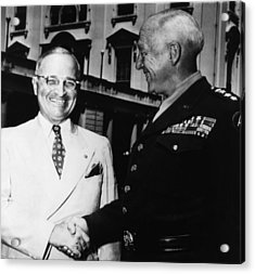 President Harry Truman, Shaking Hands Acrylic Print by Everett