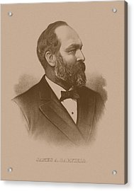 President James Garfield Acrylic Print by War Is Hell Store
