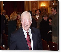 Acrylic Print featuring the photograph President Jimmy Carter - Nobel Peace Prize Celebration by Jerry Battle