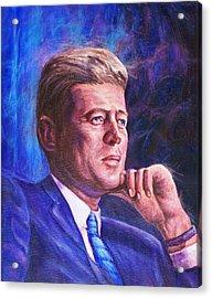 President John F. Kennedy Acrylic Print by Ed Breeding