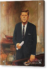 President John F. Kennedy Acrylic Print