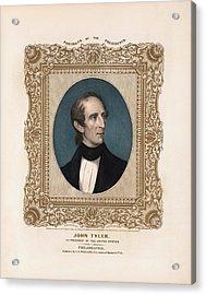 President John Tyler - Vintage Color Portrait Acrylic Print