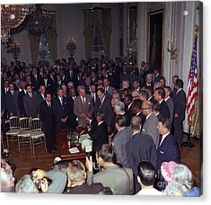 President Johnson Signs Civil Rights Acrylic Print