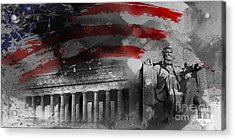 Acrylic Print featuring the painting President Lincoln  by Gull G