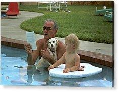 President Lyndon Johnson Celebrates Acrylic Print by Everett