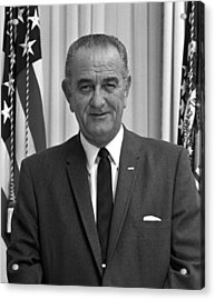 President Lyndon Johnson Acrylic Print by War Is Hell Store