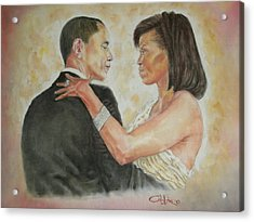 President Obama And First Lady Acrylic Print by G Cuffia