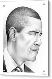 President Obama Acrylic Print by Greg Joens
