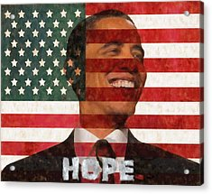 President Obama Hope Acrylic Print by Dan Sproul