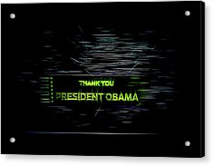 President Obama Acrylic Print by Spencer McDonald