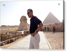 President Obama Tours The Egypts Great Acrylic Print by Everett