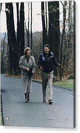 President Reagan Walking Acrylic Print by Everett