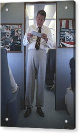 President Reagan Wearing Sweatpants Acrylic Print by Everett
