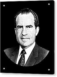 President Richard Nixon Graphic Acrylic Print