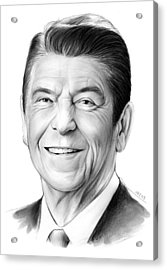 President Ronald Reagan Acrylic Print by Greg Joens