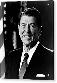 Acrylic Print featuring the photograph President Ronald Reagan by International  Images