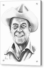 President Ronald Regan Acrylic Print by Murphy Elliott