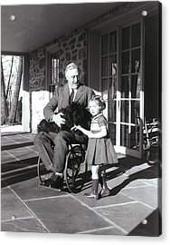 President Roosevelt In His Wheelchair Acrylic Print by Everett